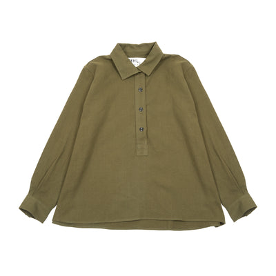 Margaret Howell MHL Women's Swing Shirt in Khaki