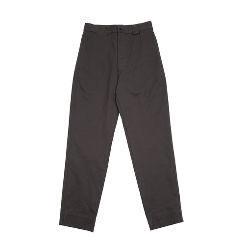 MHL TAPERED TROUSER in HEAVY COTTON DRILL - CHARCOAL