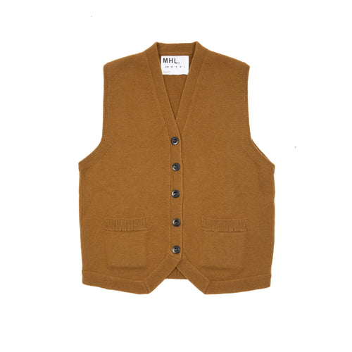 Margaret Howell MHL Women's Felted Waistcoat in Grain