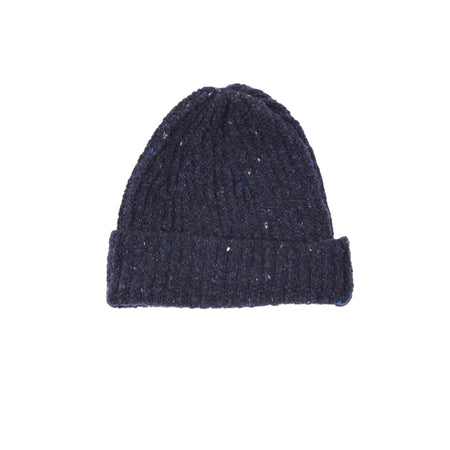 Inis Meáin Wool Cashmere Rib Hat in Tyrone