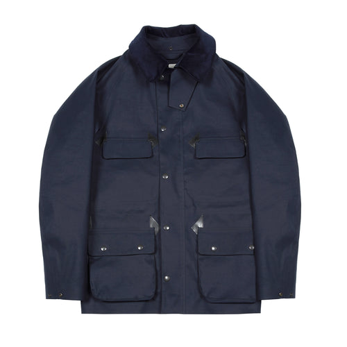 Mackintosh Anstruther Bonded Cotton Fieldcoat in Navy