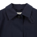 Mackintosh Women's Hope Bonded Cotton Raincoat in Navy