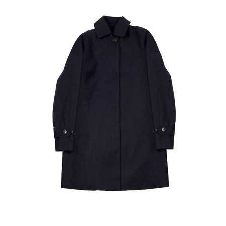 Mackintosh Women's LR-073 Bonded Wool Raincoat in Navy