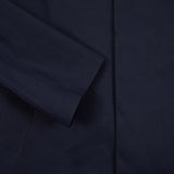 Mackintosh Oxford Bonded Cotton Raincoat in Navy