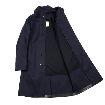 Mackintosh Women's Bonded Cotton Chryston LR1002D Hooded Raincoat in Navy