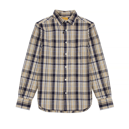 Original Madras Trading Company Shirt Navy/Clay