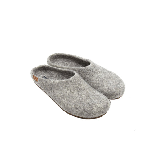 Magicfelt Grotlandschaf Wool Slippers in grey