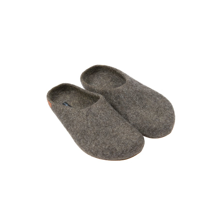 Magicfelt Steinschaf Wool Slippers in Dark Grey