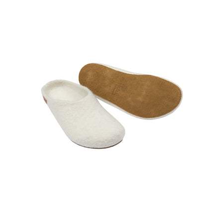 Magicfelt Moorschnucke Wool Slippers in White