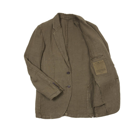 Man 1924 Kennedy Linen Jacket in Green