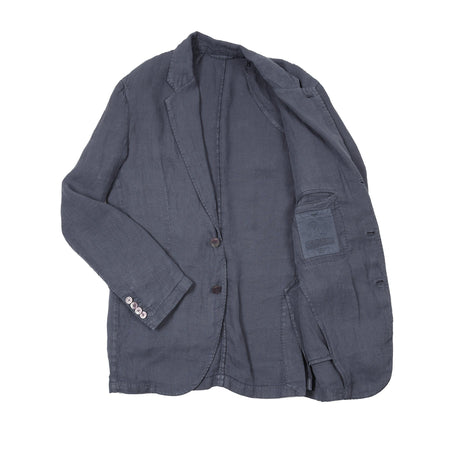 Man 1924 Kennedy Linen Jacket in Blue