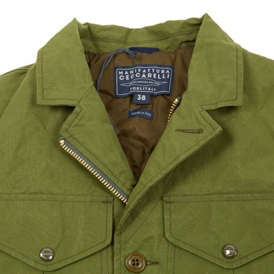 Manifattura Ceccarelli Alligator Jacket in Light Green