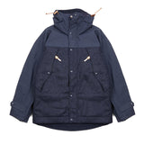 Manifattura Ceccarelli Tweed/Cotton Two Tone Mountain Jacket in Navy
