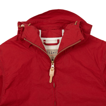 Manifattura Ceccarelli Unisex Blazer Coat with Hood in Red