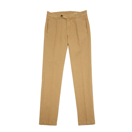 Massimo Alba Winch Linen/Cotton Trousers in Tan