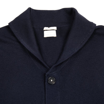 Massimo Alba Cashmere Scoop Cardigan in Blue