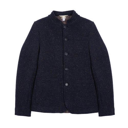 Massimo Alba Yak/Cashmere St Moritz Jacket in Navy Donegal