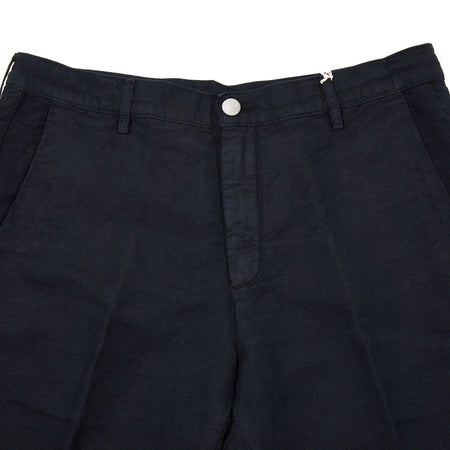 Massimo Alba Vela Linen/Cotton Shorts in Blu