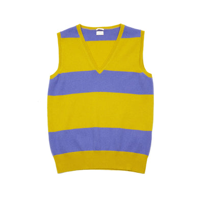 Massimo Alba Women's Vera Striped Cashmere Vest in Yellow / Violet