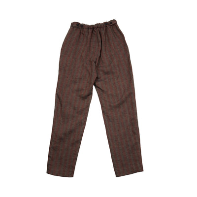 Massimo Alba Women's Melu2 Striped Linen Jodhpur Trousers in Grey/ Poppy