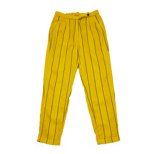 Massimo Alba Women's Boga Trousers in Yellow Stripe