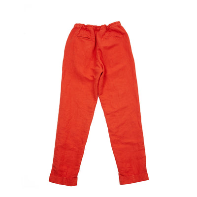 Massimo Alba Women's Boga High-Waisted Linen Trousers in Papavero Poppy