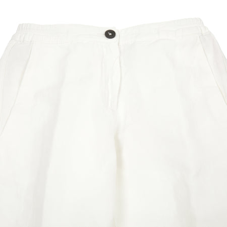 Massimo Alba Women's High Waisted Trousers in White