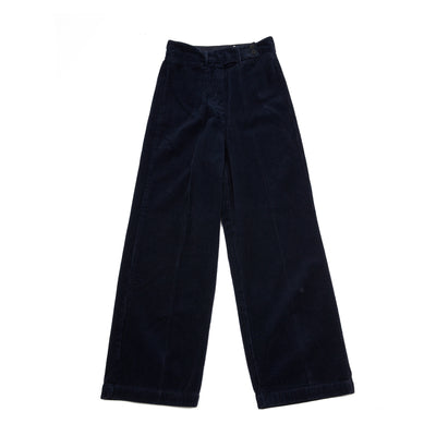 Massimo Alba Women's High-Waisted Delta Trousers in Navy
