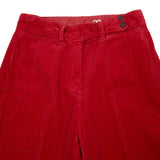 Massimo Alba Women's High Waisted Delta Trousers in Fuoco Red