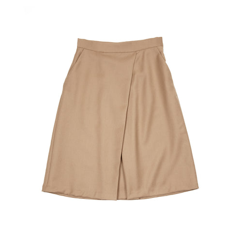 Massimo Alba Women's Wool Rose Skirt in Camel