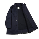 Mackintosh Dunoon GR-1002D Bonded Cotton Raincoat with Wool Liner in Navy