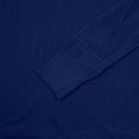 Merz b Schwanen Maco Imit Long Sleeve Henley in Ink Blue