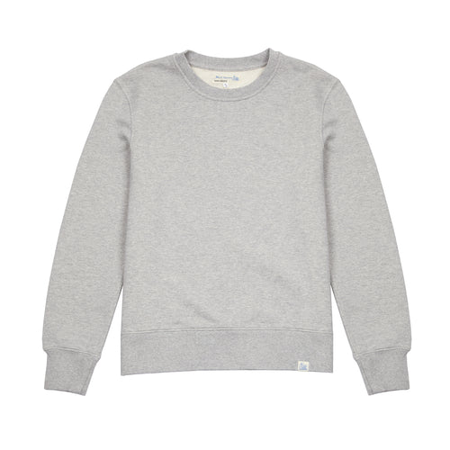 Merz b Schwanen CSW01 Good Basics Loop Back Fleece Sweatshirt in Grey Marl