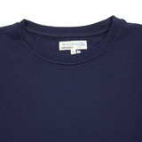 Merz b Schwanen CSW01 Good Basics Loop Back Fleece Sweatshirt in Navy