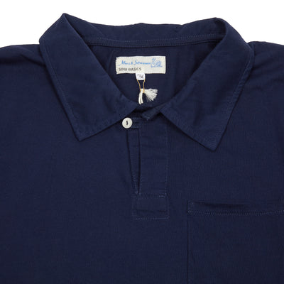 Merz b Schwanen PLP01 Good Basics Polo Shirt in Deep Blue