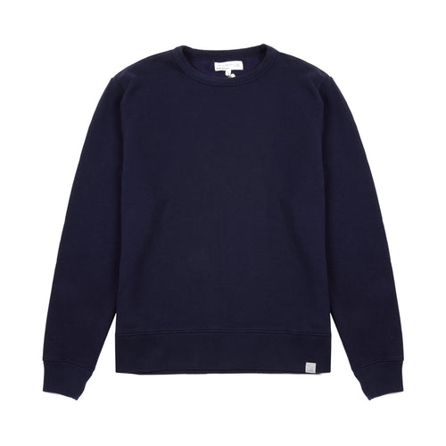 Merz b Schwanen LYSW01.58 GOOD BASICS men's sweatshirt | deep blue 60% ORG. CO / 40% CLY