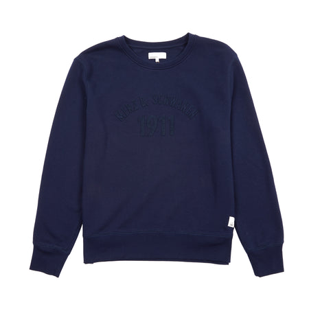Merz b Schwanen TRCSW05.58 GOOD TRAINING men's sweatshirt with felt application | deep blue 70% ORG. CO / 30% RC PES