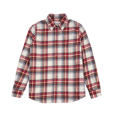 Novaa Seventy Seven Women's Plaid Shirt in Carnelian Fire