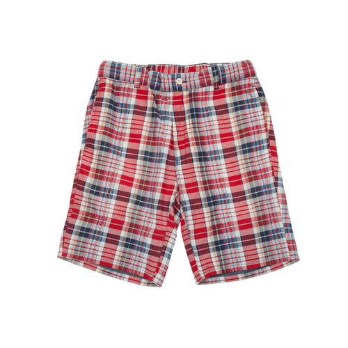 Original Madras Trading Company Shorts in Blue/Red