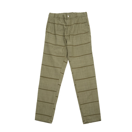 Original Madras Drawstring Trousers in Green