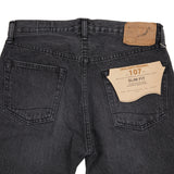 Orslow 107 Slim Ivy Jeans in Washed Black Denim