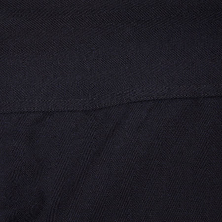 Orslow Collarless Twill Overshirt in Dark Navy