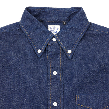 Orslow Denim Shirt in Indigo Blue
