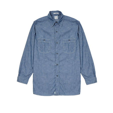 Orslow Chambray Shirt in Blue