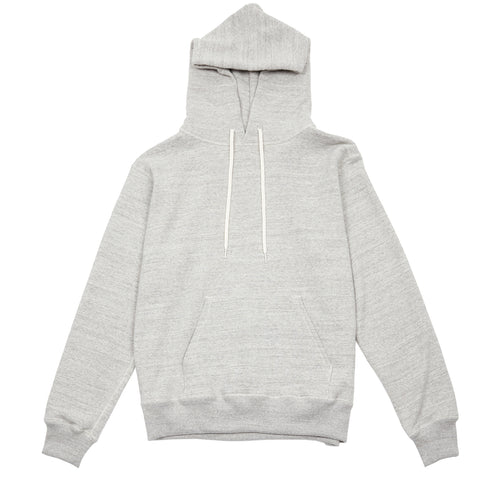 Orslow Melange Cotton Hoodie in Grey