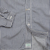 Orslow 01-8073 Collarless Shirt in Hickory Stripe