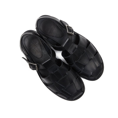 Paraboot Women's Iberis Chasse Sandals in Noir