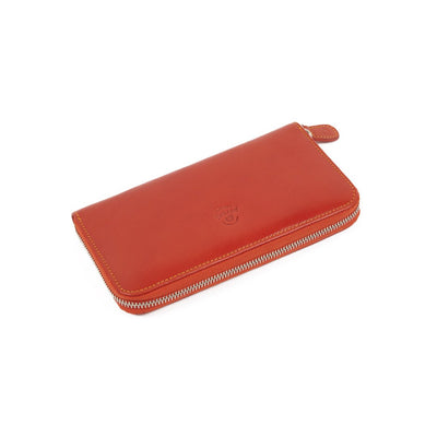 Peroni Orange Leather Purse
