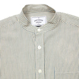 Portuguese Flannel Mao Collarless Striped Shirt