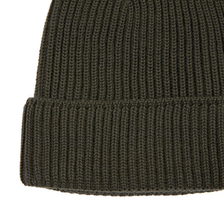 SNS Herning Mental Beanie Hat in Deep Bronze Green